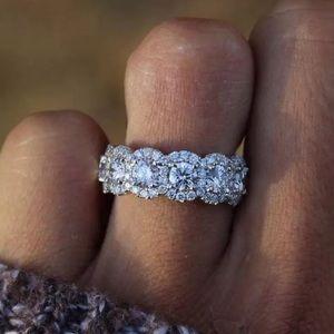 NEW💍925 STERLING SILVER DIAMOND RING